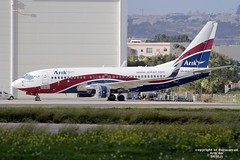 5N-MJI LMML 28-11-2015 (Burmarrad (Mark) Camenzuli) Tags: cn aircraft air airline boeing registration arik 28640 73776n lmml 5nmji 28112015
