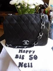 Chanel Handbag cake (Victorious_Sponge) Tags: birthday black cake chanel handbag