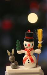 Weihnachten 2015 (p_jp55 (Jean-Paul)) Tags: christmas macro bunny weihnachten snowman nol makro hase nahaufnahme schneemann bonhommedeneige livre