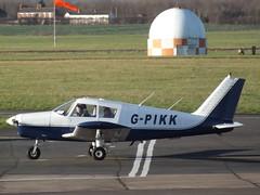 G-PIKK Piper Cherokee (Aircaft @ Gloucestershire Airport By James) Tags: james airport gloucestershire cherokee piper lloyds egbj gpikk