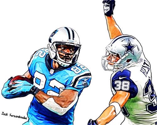 - Carolina Panthers Jerricho Cotchery - Dallas Cowboys Jeff Heath - a photo  on Flickriver 836a7c9f4