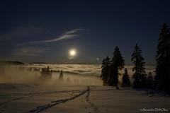 Supermoon_DSC2161 (achrntatrps) Tags: astrophotographie d4 nightshot nikon photographe photographer alexandredellolivo dellolivo suissenuitnightnachtastronomieastronomynochenottenikon switzerlandlunelunamondmoonsupermoonsuperlunetête de ranvue des alpes nikkor1424f28 lune moon mond luna brouillard fog têtederan neige snow schnee sapins tannen sprucetrees chainedujura