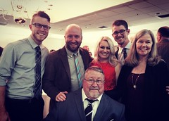 The Anna Freeman Davies Award recipient Wally Grummun with his family: sons Marc, KC and Kyle (with fiancee Molly), and Patti B. Grummun.