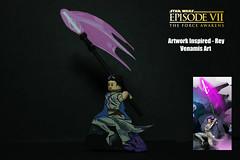 Venamis Art - Rey (TheCampervanTom) Tags: lego custom art star wars artwork rey force awakens venamis eli hyder