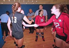IMG_9494 (SJH Foto) Tags: girls volleyball high school mount olive mt team tween teen teenager varsity tamron 1024mm f3545 superwide lens pregame ceremonies ref referee captains coin toss