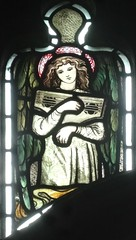 [45618] St Editha, Tamworth : Musician (Budby) Tags: tamworth staffordshire church window stainedglass preraphaelite