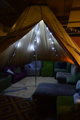 beautiful tent (coffeebucks) Tags: amsterdam ecomama ecomamaamsterdam hostel traveller travelling hostelling ecotourism sustainable fairylights teepee tipi yurt tent camping sofa cushions snuggly
