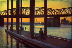 Alone Together (HSS) (buffdawgus) Tags: canon5dmarkiii canonef24105mmf4lisusm columbiariver columbiarivercrossing lightroom5 oregon portland sunset topazsw twilight washingtonstate