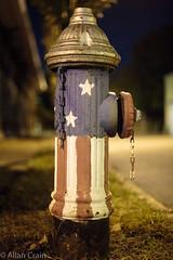 Day 22: 'Merica (allankcrain) Tags: hydrant firehydrant flag america cherokeest stars stripes