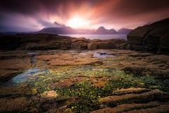 Elgol (devlin11) Tags: elgol skye scotland scenery seascape tranquil nikon magic mountains colour cuillins water beach seaside landscape exposure sky