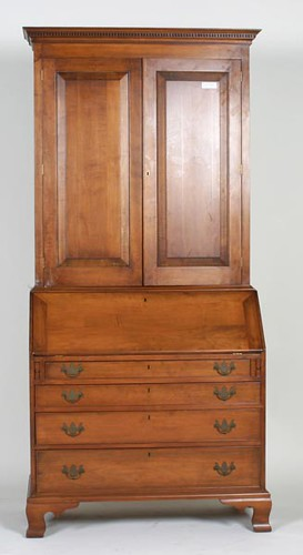 Virginia Craftsman 2 Piece Secretary w/ Dental Molding ($812.00)
