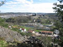 Bohus and Bohus castle (Bohus fästning) seen from Fontin, Kungälv, 2010 (biketommy999) Tags: 2010 bohusfã¤stning castle fortress kulturminne fästning bohuslän kungälv