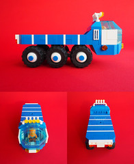 Space Lorry - Montage (David Roberts 01341) Tags: lego lorry truck transporter 6x6 allterrain minifigure space scifi
