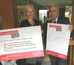 Supporting Shelter homelessness campaign