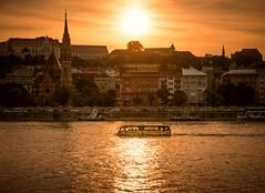 Floating Bus Budapest (sfabisuk) Tags: floating bus budapest sunset city travel europe danube explore