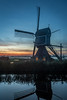 31okt2016f (mesocyclone70) Tags: mill windmill sunset evening water reflection holland color colors colour colours colorfull colourfull lake canal scenic dusk sunrise autumn fog