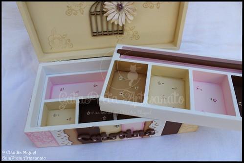 "Caixa de bijuteria ""Pink&Brown Corsets"""