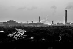 Dual pollution (Robin Kelderman) Tags: freeway autobahn industry pollution ruhr ruhrpott ruhrgebiet duisburg germany deutschland