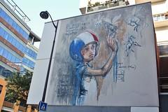 Herakut_5069 rue Goscinny Paris 13 (meuh1246) Tags: streetart paris paris13 herakut ruegoscinny enfant animaux cheval