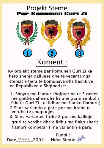 Projekt Stema per Komunen Guri i Zi, per konkurim steme.