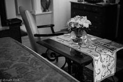 Elegance of simplicity... (EHA73) Tags: aposummicronm1250asph leica leicamm typ246 blackandwhite bw interior decoration elegance flowers bedroom
