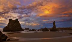 Bandon Beach at Low Tide (Bandon, OR) (Sveta Imnadze) Tags: nature seascape pacificocean bandon oregoncoast beach clouds rocks