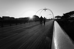 Evening Stroll (tabulator_1) Tags: southport southportpier blackwhite blackandwhite