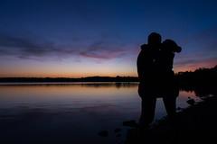 Silhouettes (kilian336) Tags: angers 49 maine et loire france lac de silhouettes silhouette coucher soleil sunset colour colorful sky water ciel couple