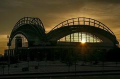 Sunrise Miller Park - Milwaukee Wi. USA (MalaneyStuff) Tags: brewers baseball millerpark milwaukee mlb usa d5100 nikon sadium sunrise sun