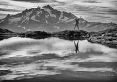 I overlooked this beauty (D. Inscho) Tags: mtshuksan mtbakerwilderness reflection tarn glaciers washington pacificnorthwest northcascades canon5diii 2470mm28 usa