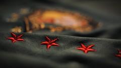 Stitched Stars (Aadilos) Tags: macromondays macromonday stitch cameroun soccer shirt sigma mini wide 2 nikon d5200 bokeh stitches stitched stars macro monday mondays closeup worldtrekker