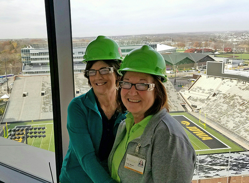 Kathy Williams and Cindy Wood, the hospital's