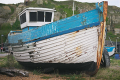 Nautical Decay (ShrubMonkey (Julian Heritage)) Tags: abandoned beach coast boat fishing harbour decay shingle gear landing coastal shore hastings nautical wreck nets a7 trawler stade clinker beachlaunched