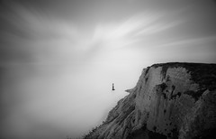 Edge of Nothingness (TS446Photo) Tags: ocean longexposure trip light sea blackandwhite bw cliff cloud lighthouse white holiday black english classic scale water weather sussex mono jump nikon df brighton long exposure solitude open view little crash head top horizon fineart suicide wave visit spot filter edge eastbourne 20mm tranquil channel beachy beachyhead lightroom 10stop nikon20mm 6stop bigstopper ts446 nikondf wwwlondonfineartphotographycouk