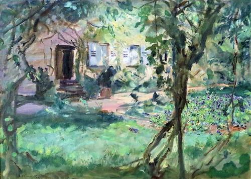 IMG_8860 Max Slevogt. 1869-1932. Jardin avec plate bande de pensées ...
