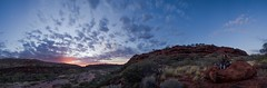 Sunrise in Company (Guille Barbat) Tags: camping nature sunrise wide australia panoramic northernterritory palmvalley ladscapes finkegorgenationalpark guillebarbat