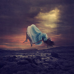a light in the dark (brookeshaden) Tags: iceland surrealism fineart levitation conceptual lavafields brookeshaden btsvideo jenbrook