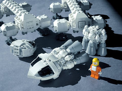 EAGLE 09 LEGO ((K_A) King_Arthur) Tags: show moon lune one tv noir lego eagle space 1999 modular scifi spaceship alpha moonbase ideas cosmos spacecraft transporter aigle