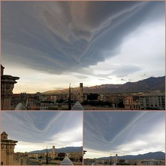 lenticular clouds over Tortosa (Marlis1) Tags: clouds wolken lenticular lenticularclouds explored weatherphotography marlis1 föhnfische extremeclouds tortosacataluñaespaña canong15 inexploresept232015