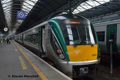 22021 at Heuston, 23/9/15 (hurricanemk1c) Tags: dublin irish train rail railway trains railways irishrail rok rotem heuston 2015 icr iarnród 22000 22021 éireann iarnródéireann 4pce 1535heustongalway