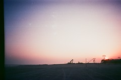 16310007 (el.naboka) Tags: nyc bridge sunset sky usa cloud ny film brooklyn subway coneyisland outdoor dusk manhattan broadway fujifilm westside nycfilm filmphoto filmlover filmonly onlyfilm filmphotoonlyfilm filmphotoonly