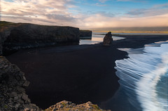 Dyrholaey Motion - Iceland, Vik (Nomadic Vision Photography) Tags: ocean travel sunset sea summer nature iceland movement europe scenic vik dyrholaey southiceland jonreid tinareid nomadicvisioncom