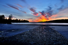 Kopia - _DSC4199 (m.martinsson87) Tags: sunset sky sun lake ice colors beautiful clouds painting spring