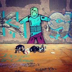 Be hardcore. (annaeme) Tags: wall graffiti wallart spraypaint poblesec paralel tresxemeneies streetartbarcelona