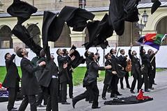 Cloaks in the Air (AntyDiluvian) Tags: trip music portugal germany garden munich deutschland singing palace german portuguese muenchen hofgarten odeonsplatz residenz cloaks acapella 2015 gleeclub singinggroup