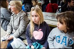 Apple. (Sapient Iguana) Tags: girl child sad think thinking pensive sadface pensivechild thinkingchild lucianlanteri