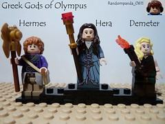 Hermes, Hera and Demeter (Random_Panda) Tags: greek lego fig olympus figure gods minifig figures mythology myth figs greeks minifigure minifigures