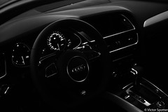 Inside Audi A5 (plane-spotter31) Tags: light white black reflection sports beauty wheel sport matrix germany deutschland grid twilight eyes shoot power gorgeous wheels autobahn led suit german showroom a3 shooting tt a4 audi a5 luxury a6 a8 quattro sportcar powerfull sportback worldcars