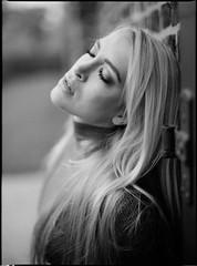 Yearningly III (Jochen Abitz) Tags: portrait bw mamiya film fashion rollei analog hair 645 emotion retro editorial 6x45 400s 8019