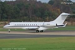 N15SD Bombardier Global 6000 c/n 9272 Triangle Air Services Inc. (EGLF) 18/11/2015 (Ken Lipscombe <> Photography) Tags: cn triangle air inc services 6000 global bombardier eglf 9272 n15sd farnboroughairporticaoeglfbizjetsaviationflyingtag 18112015